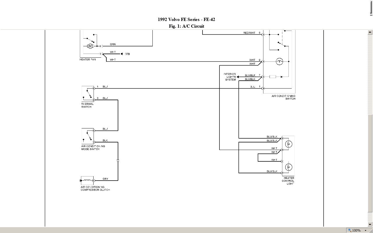 I Need The Wiring Diagram For Cab Of A 1992 Volvo Fe42 Truck Stev Graphic
