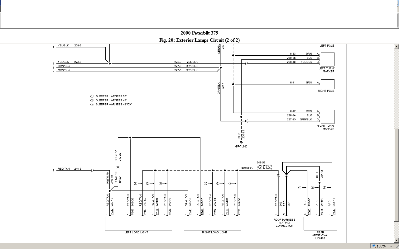 peterbilt 379 light wiring diagram 2000 peterbilt 379 electrical issue no power to my tail ...