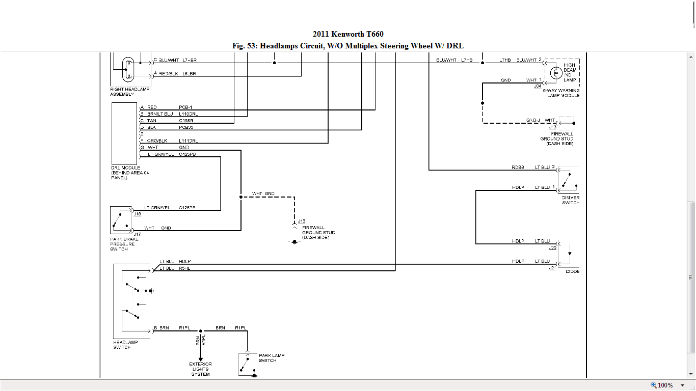 Kenworth T660 Headlight Wiring Diagram Reinvent Your Harness Have A 2012 With Hid Headlights Both Are Rh Justanswer Com