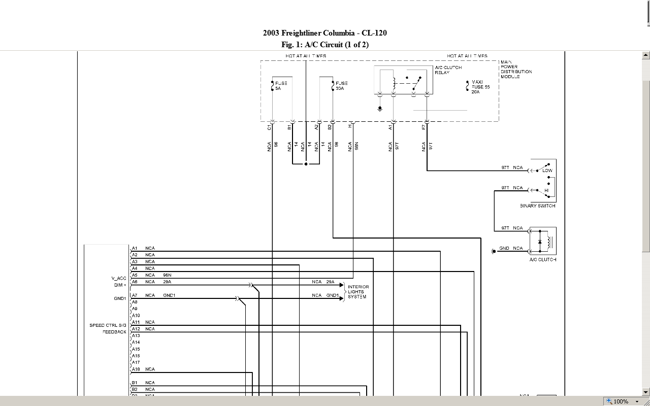Need Diagrams To Find A Short In A 2003 Freightliner Columbia Turn Signal Circuit  When All
