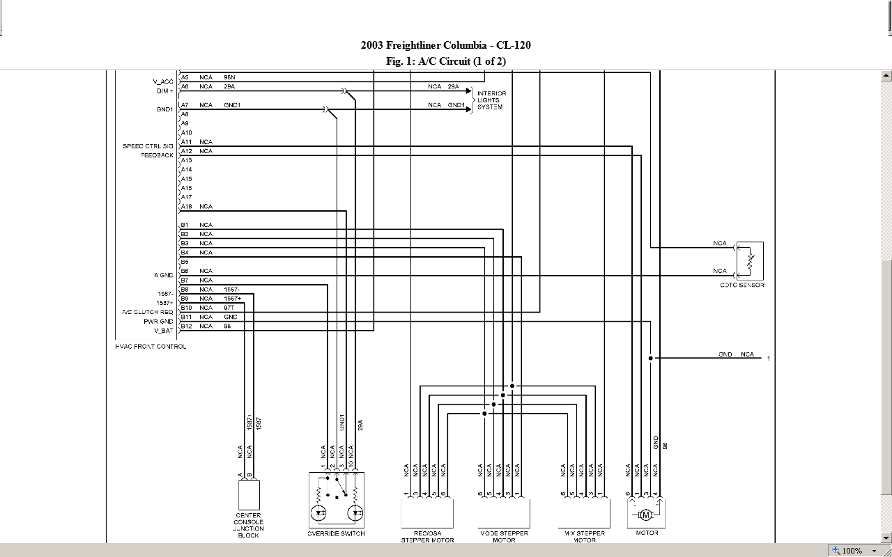 need diagrams to find a short in a 2003 freightliner