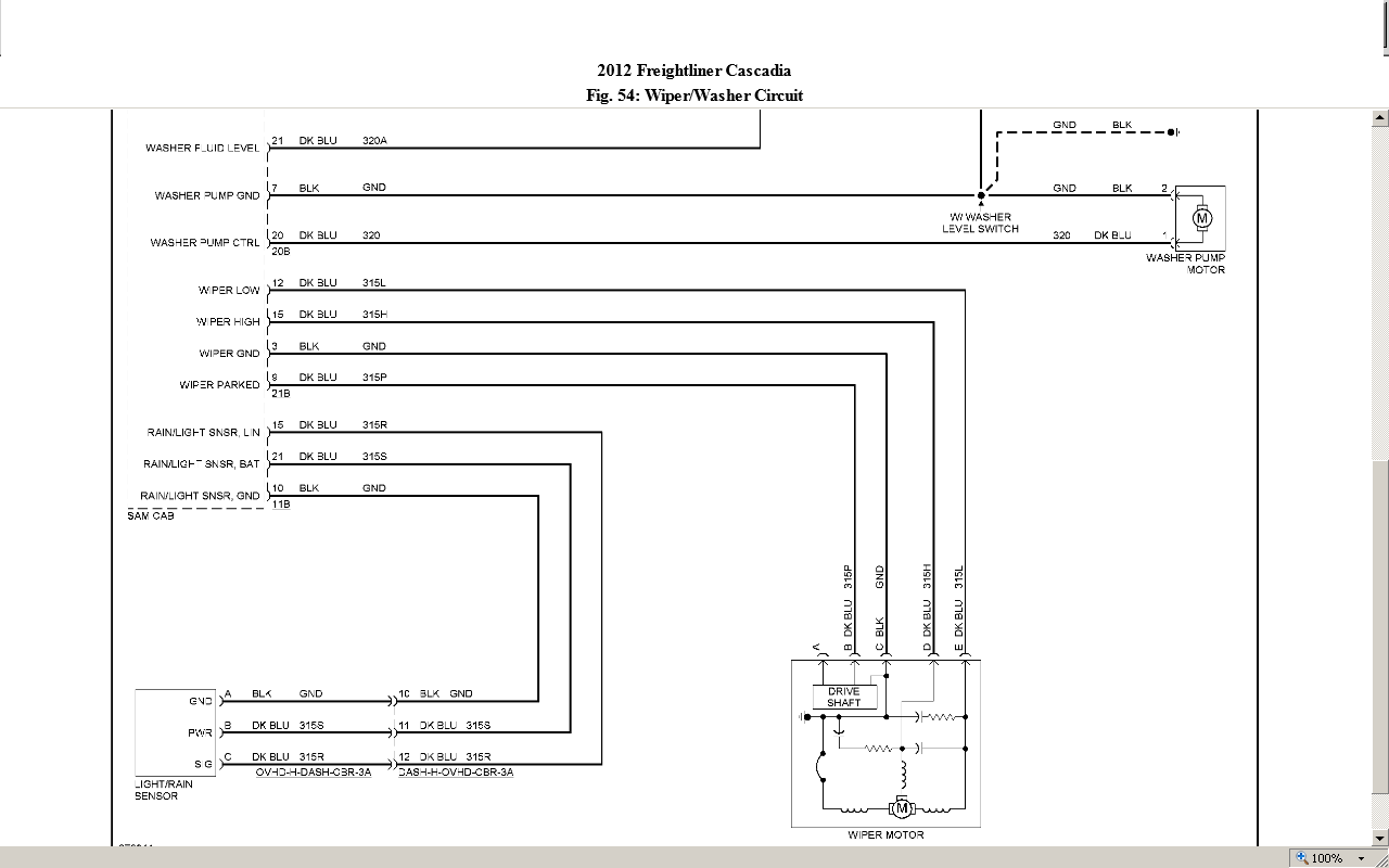 Washer Motor Wiring Diagram Freightliner M on