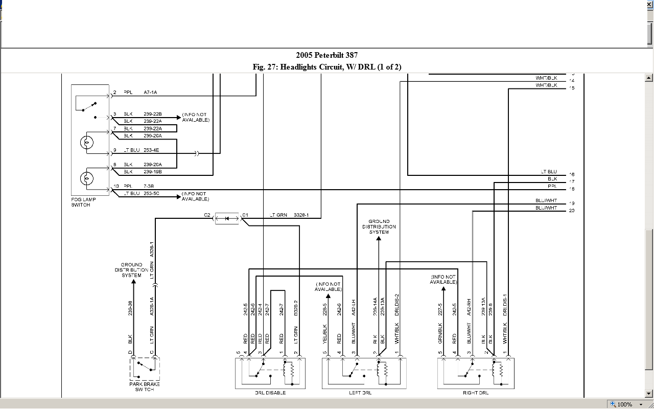 peterbilt 320 wiring diagram diagrams