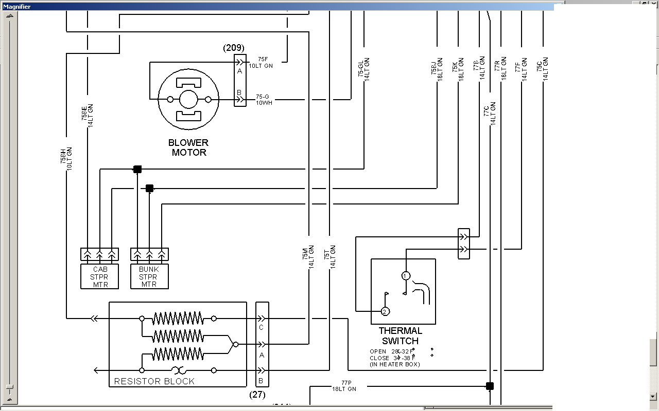 [SCHEMATICS_4US]  I've got a 2001 9400i and the blower motor only works on high. pulled pass.  seat out to test for power at blower | International 9400i Truck Wiring Diagram |  | JustAnswer