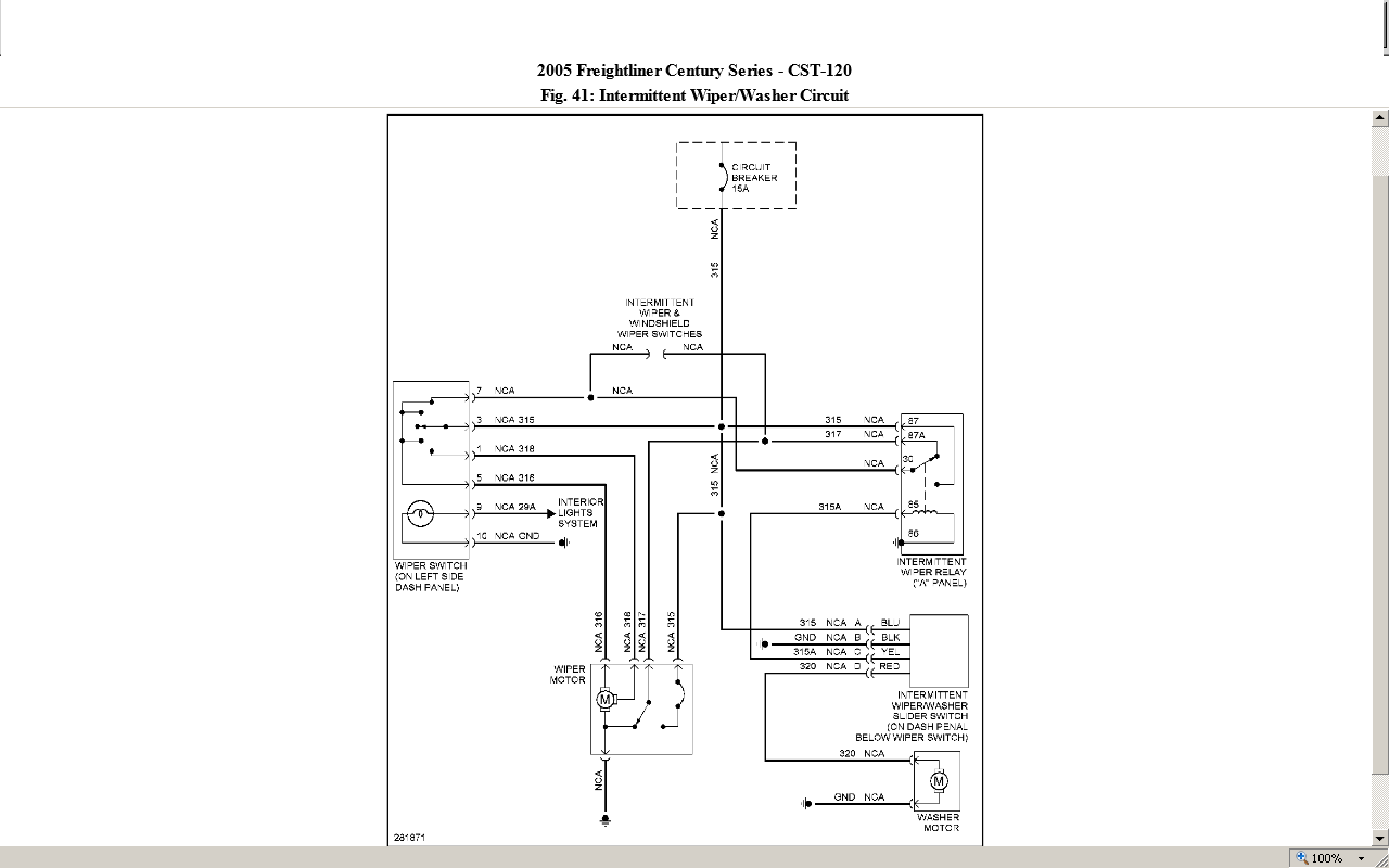 Freightliner Wiper Wiring Diagram Electrical House 1999 2005 Century I Can Make The Windshield Wipers Come On Rh Justanswer Com