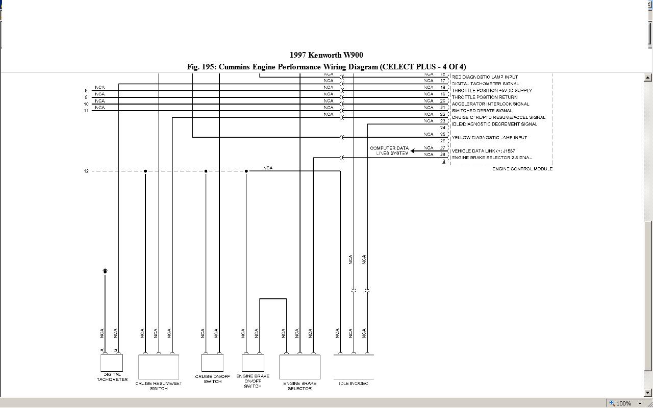 Kenworth Engine Fan Wiring Diagrams Diagram W900 Six Pin Trailer T800
