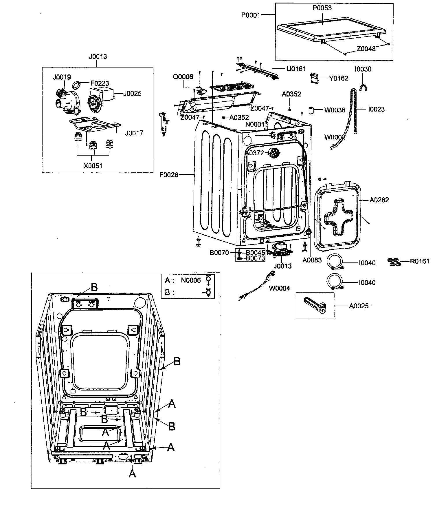 i need an assembly drawing for a samsung washer model