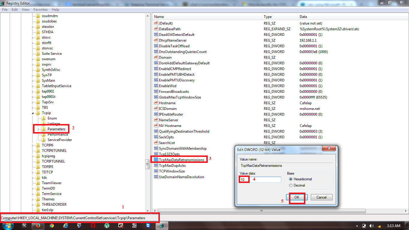 I am using Microsoft's Remote Desktop (from both a Windows 7