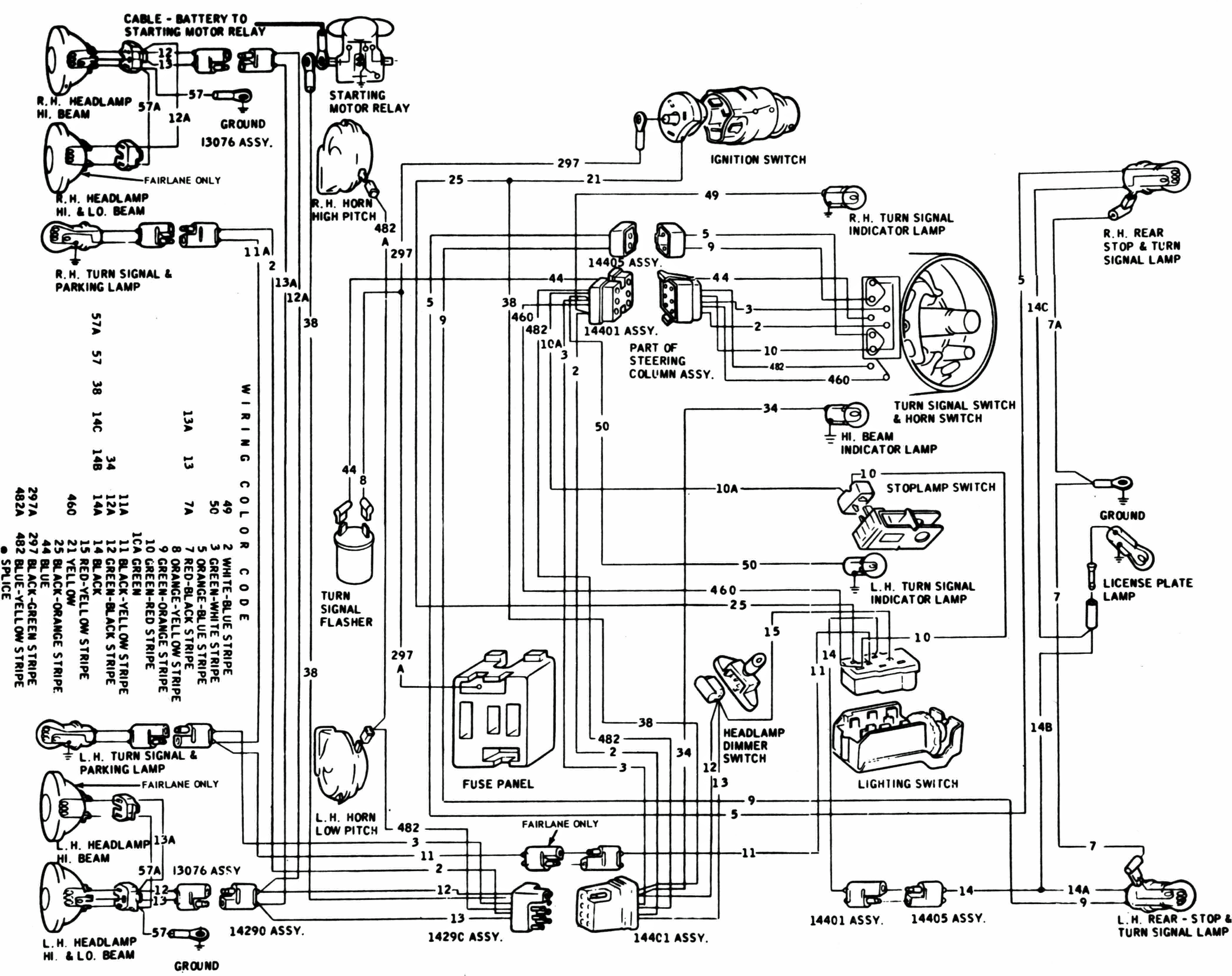 1967 Fairlane Wiring Diagram