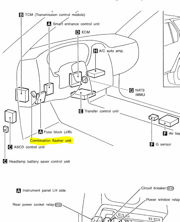 where is the relay located on the 2000 qx4