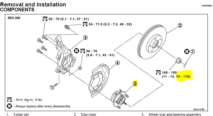 nissan maxima wheel hub embly diagram  nissan  auto parts