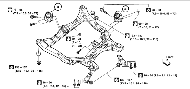 Need A Digram Of All Motor Mounts On 2001