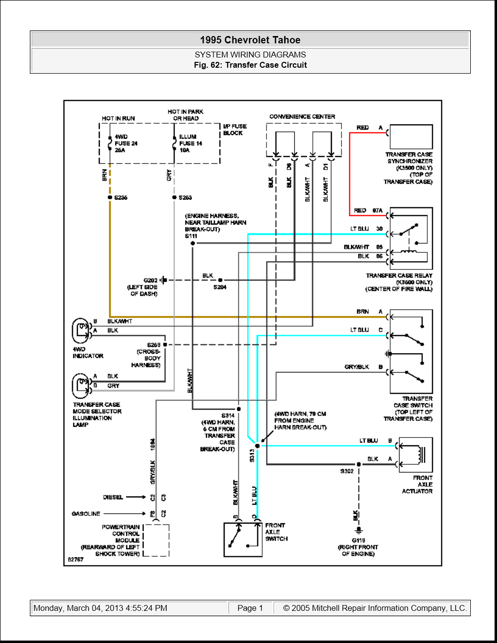 I need to know the exact name/number of the connector that ...  Tahoe Dash Wiring Diagram on