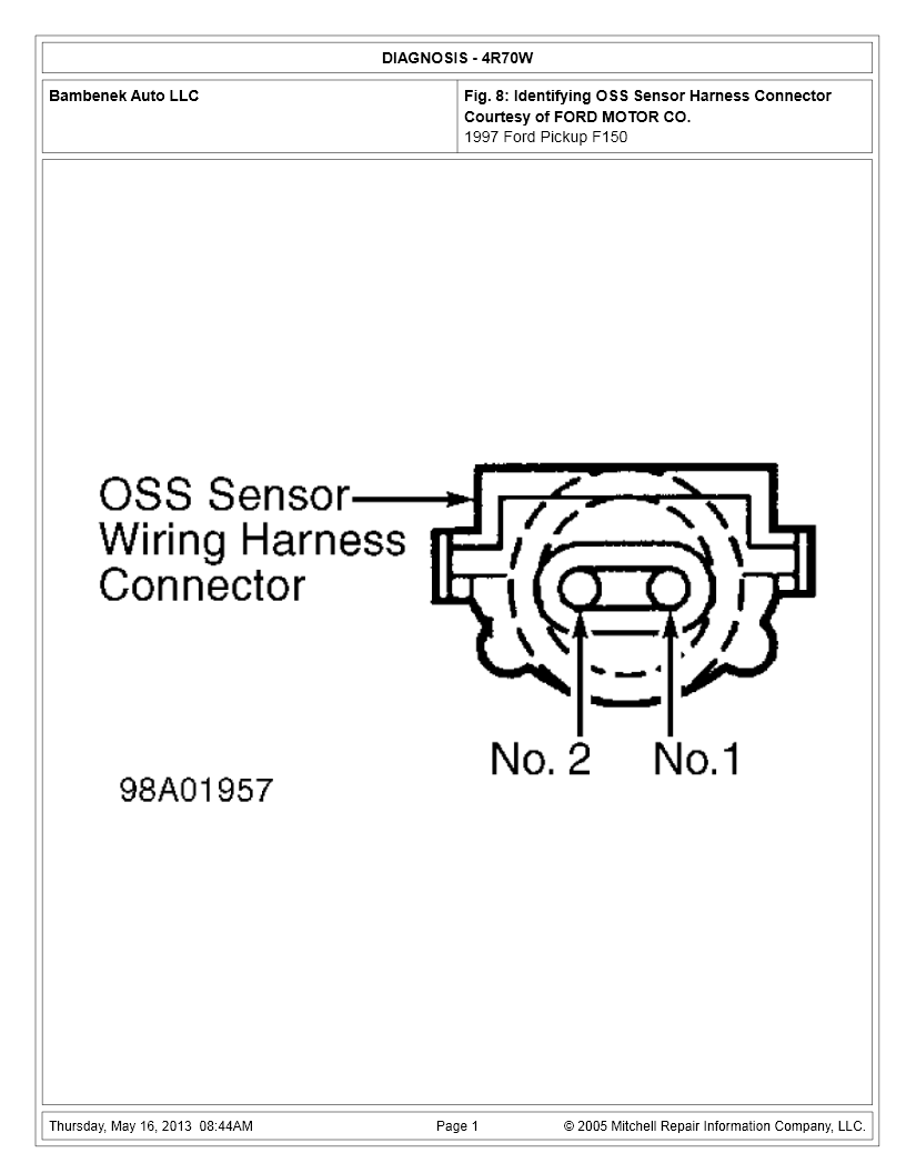 i just got a 97 f 150 4x4 with a 4 6 the speed sensor was unplugged Wiring Ford Harness67cougarxr7 ok here is the checking procedure you apparently are not getting enough signal from the sensor
