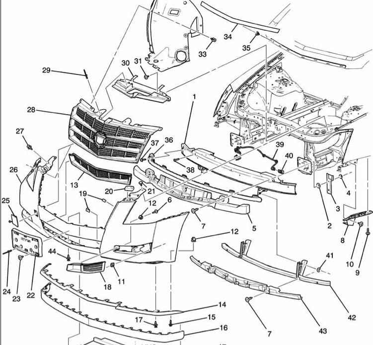 2010 cadillac dts headlight diagram