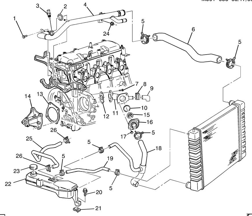i have a 1999 pontiac sunfire with a coolant leak. the ... 2001 sunfire engine schematics #7