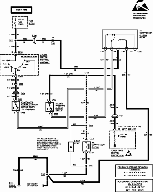 I Need A Wiring Diagram For The Air Conditioning Circuit