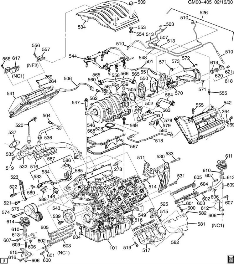 2001 Oldsmobile Alero V6 Engine Diagram
