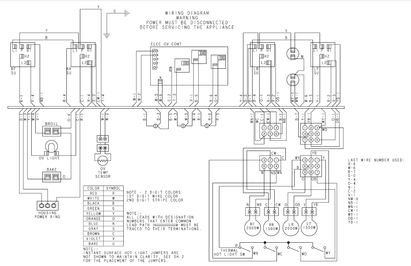 I Need A Wiring Diagram For A Ge Stove Model Jbs55ck4cc