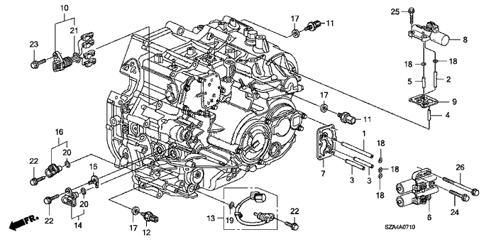 honda pilot engine diagram wiring diagrams Honda Pilot Alternator Oil Leak