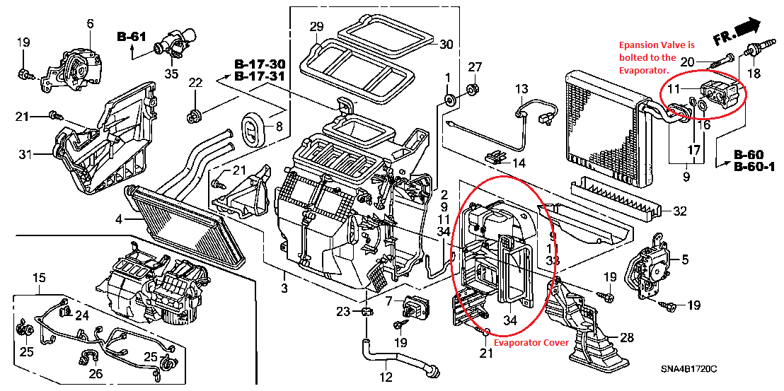 service manual  ac evaporator question hi there i have a