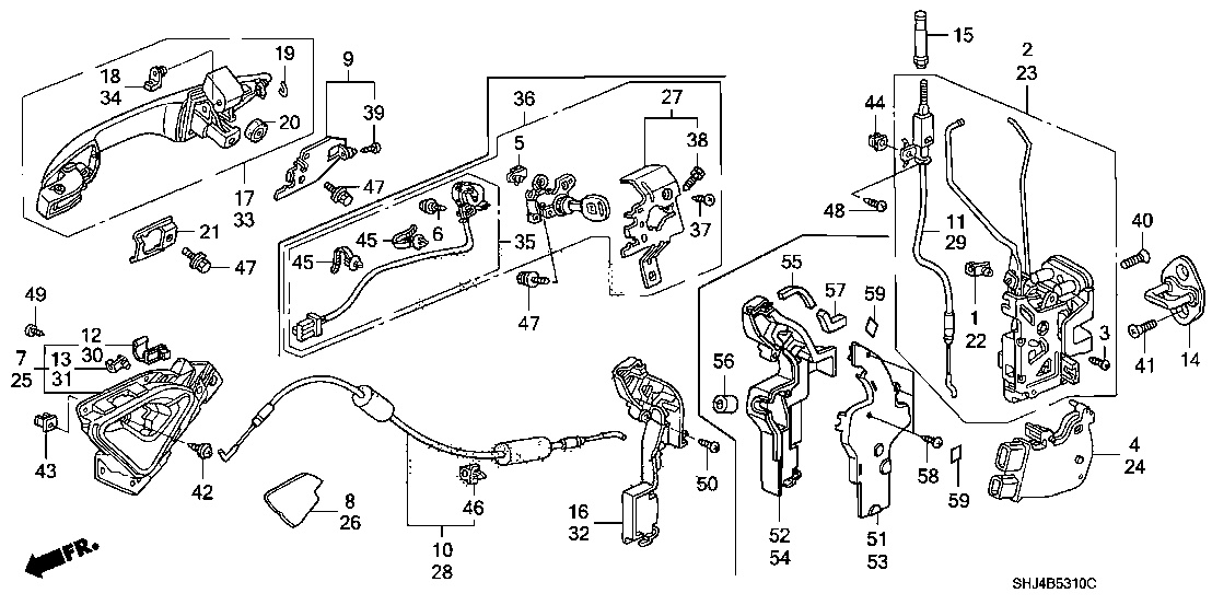 door lock wiring diagram 2008 honda oddyssey  honda  auto parts catalog and diagram