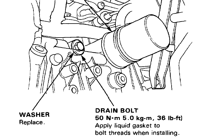 where is the drain bolt on the engine block of a 1991