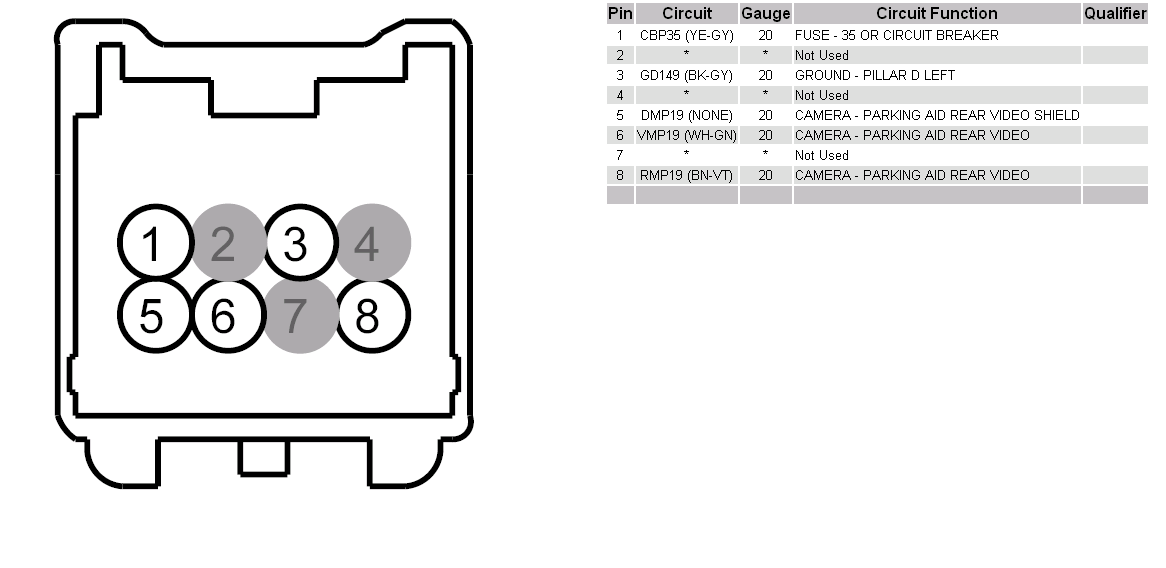 looked up the wiring diagram for flex reverse camera