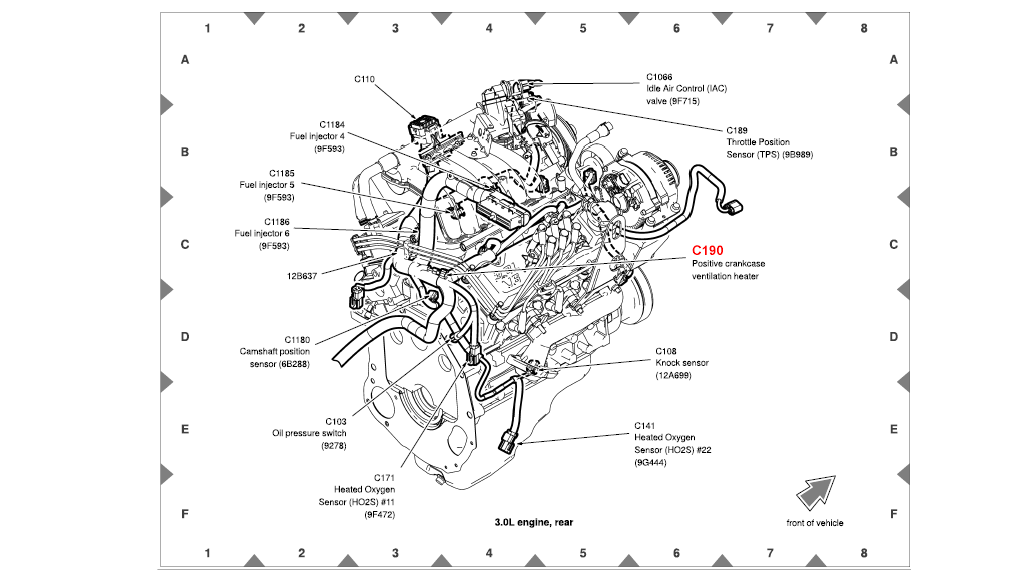 I Have A 2004 Ford Ranger With 300l V6 Showing Codes 171 And 174. It Is Going To Be Difficult Check The Intake Gaskets Fir Leaks As They Do Not Show Obvious Holes In Them What You Can Try Running Motor And. Ford. Rubber Intake Hose Diagram 2003 Ford Ranger At Scoala.co