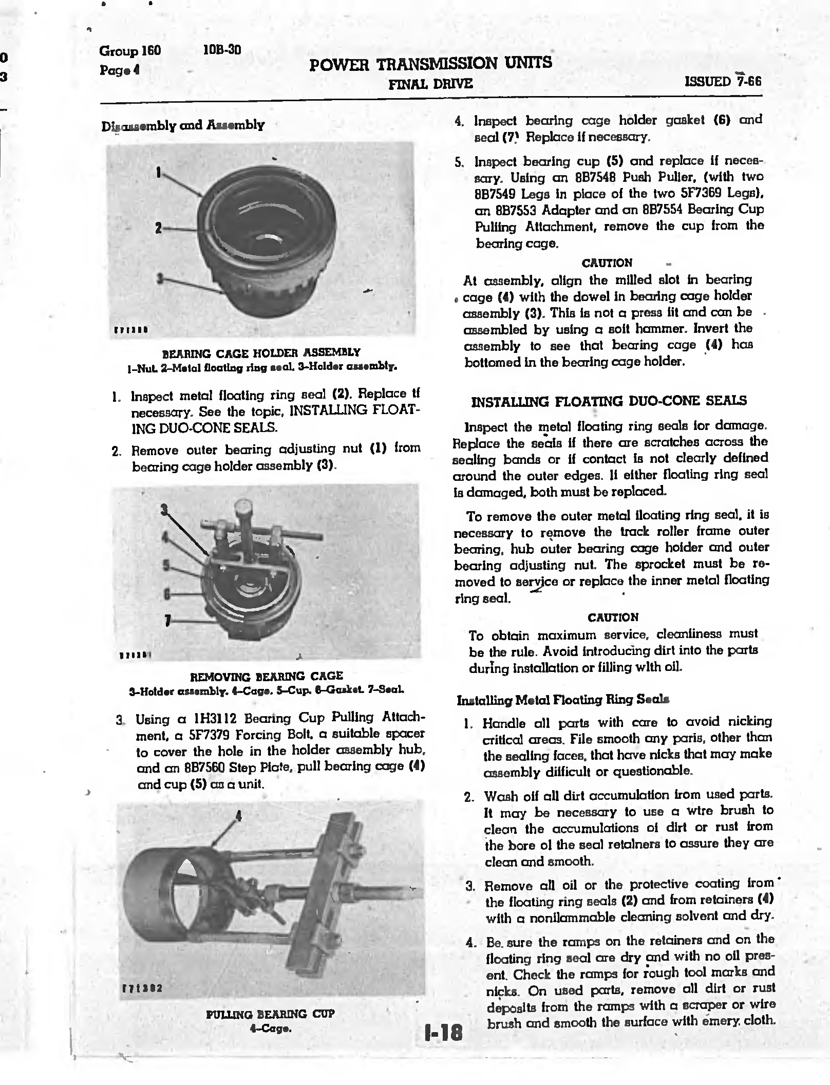 Caterpillar D7e 48a Service Manual