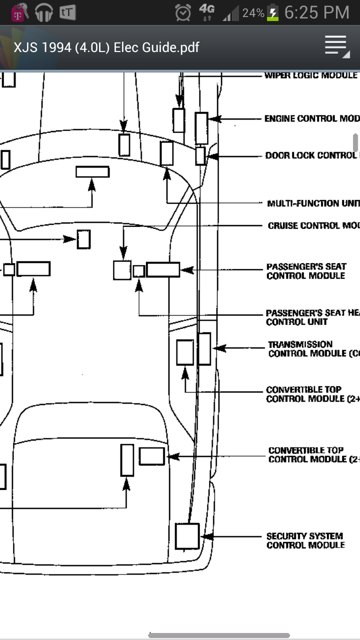 where is the transmision control module located on 1994 xjs 4 0 the rh justanswer com GM Cruise Control Wiring Diagram Peterbilt Cruise Control Diagram