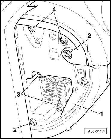 i would like to know what panels must be removed to replace the Audi A6 Brake Problems graphic