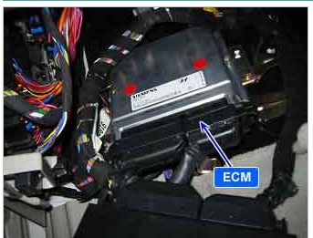Where Is The Tcm Located At In A 2005 Kia Spectra Ex