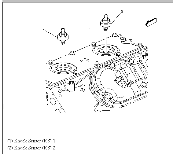 Gmc Yukon Knock Sensor Location On Engine