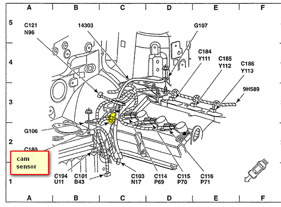 Jeep Cherokee 2 5 1989 Specs And Images likewise 74o8y Grand Cherokee Clear Squib2 Fault Jeep Grand besides Discussion T813 ds497472 also 7h300 Camshaft Sensor Located Ford Escape 20 likewise Timing Belt Replacement. on 2002 ford explorer crank sensor