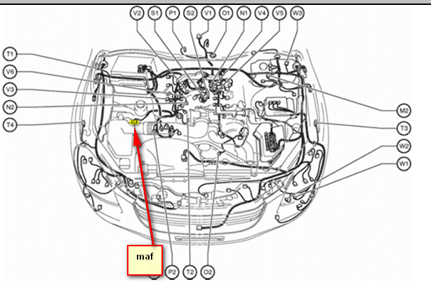 2002 lexus sc 430 4.3l - do you have an maf location diagram and an maf  wiring diagram? thanks.  justanswer