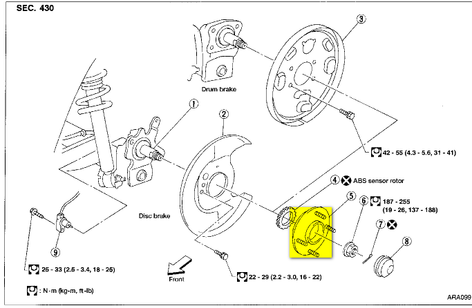 nissan maxima wheel hub embly diagram  nissan  auto parts
