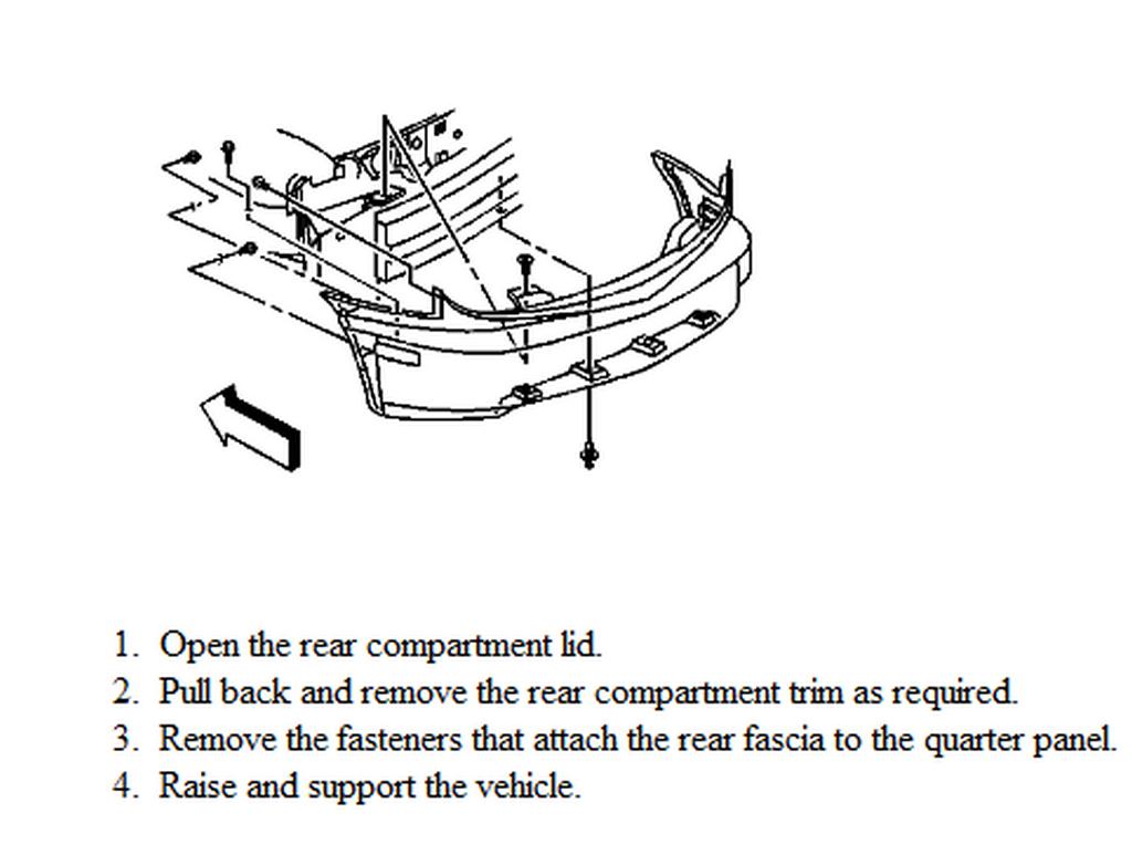 How To Remove Rear Bumper Cover 2002 Pontiac Sunfire