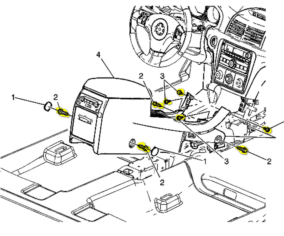 service manual  2010 saturn vue dash removal diagram