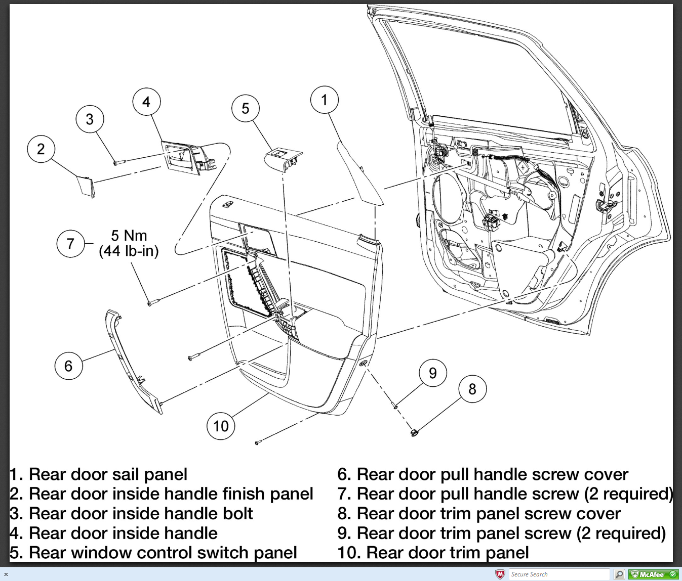 Removing rear door handle on 2008 ford focus ses no for 05 f150 door panel removal