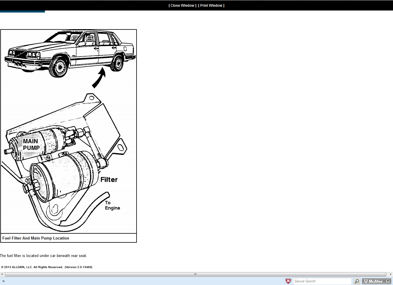 1991 Volvo 940 Problem Began This Afternoonjust Put Some Gas In And S40 Fuel Filter Location Graphic