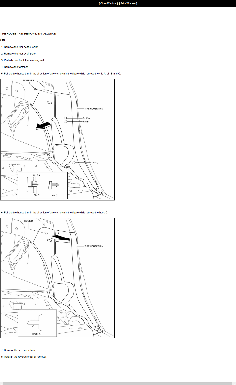 Mazda 3 Service Manual: Trunk Side Upper Trim RemovalInstallation