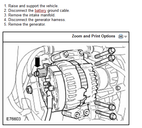 How to replace alternator of 2008 Landrover lr2  I think the intake