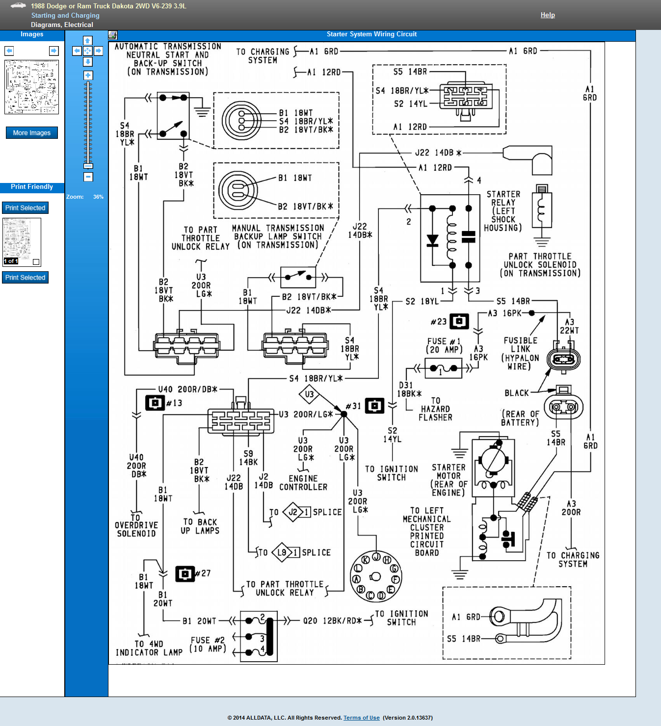 [SCHEMATICS_4FD]  1988 dakota 3.9 ignition system schematic needed. truck doesnt have voltage  to plugs. computer, ASD, starter relay, | 1988 Dodge Dakota Engine Wiring Diagram |  | JustAnswer