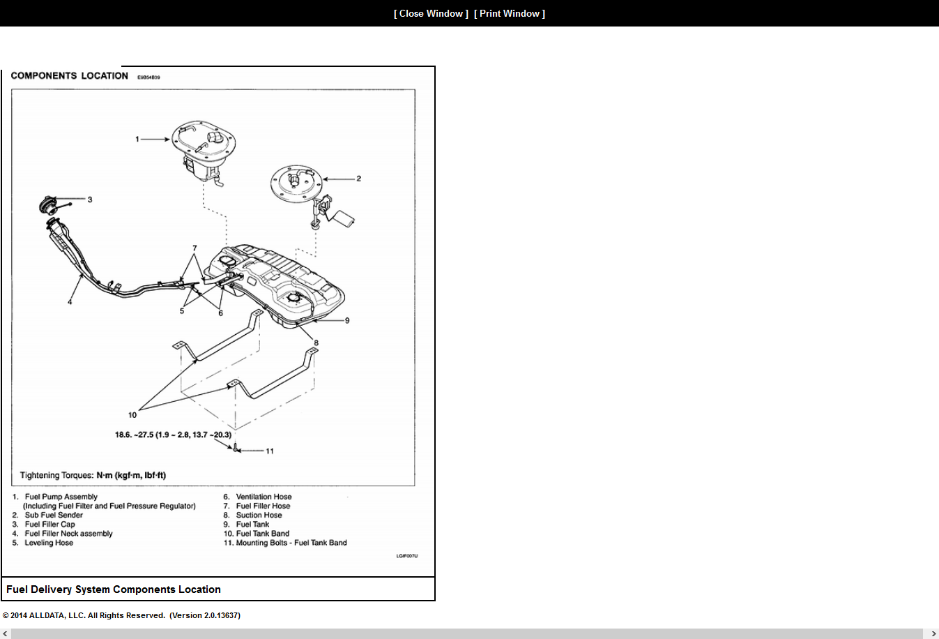 Why The Extra Fuel Pump On 2005 Hyundai Tucson Lifted Passenger Components Graphic