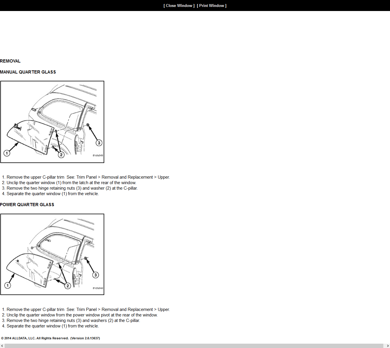 Service manual how to replace 1992 chrysler town country for 2002 chrysler town and country window regulator
