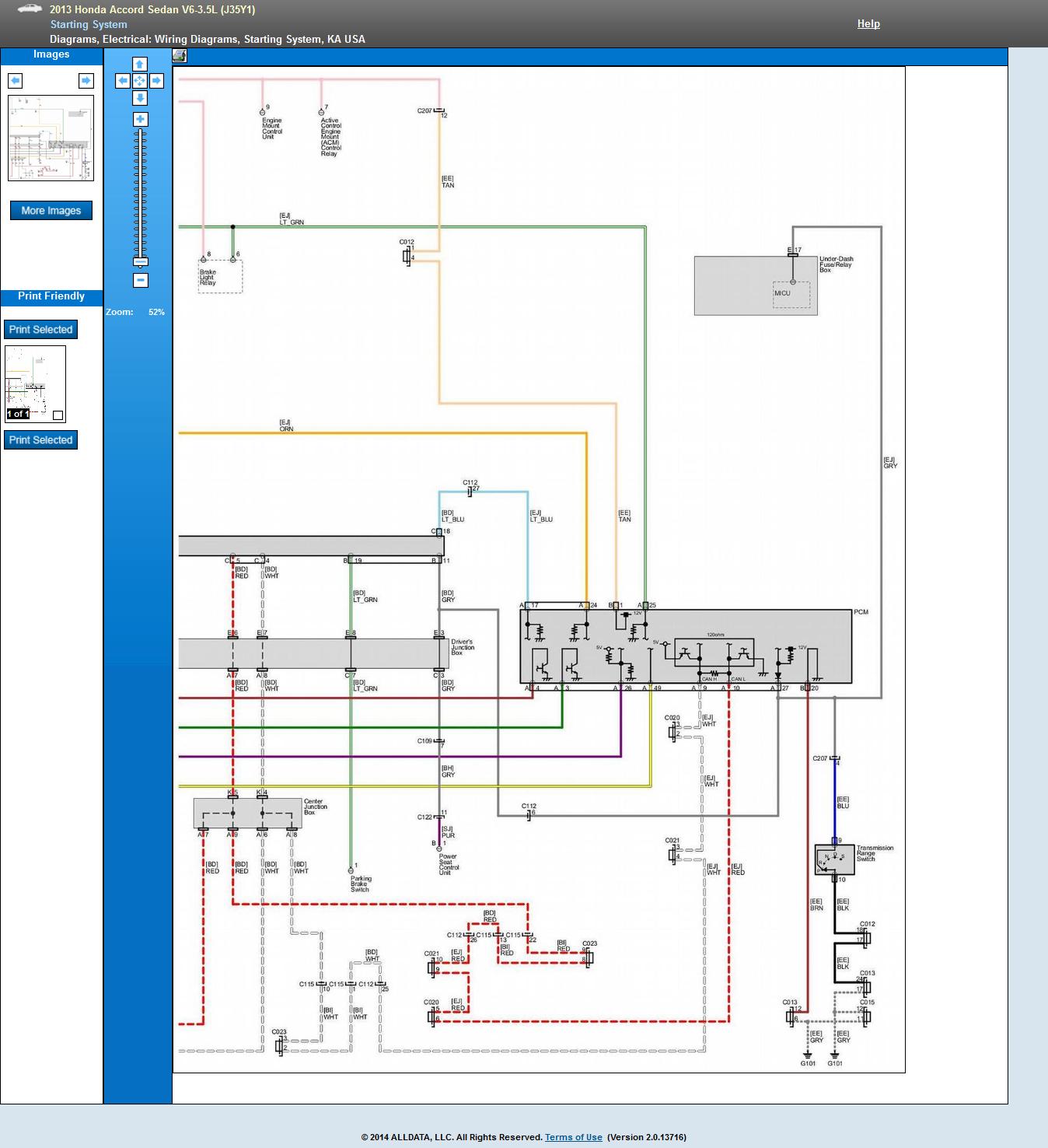 2013 Honda Accord Wiring Diagram Manual Of 2014 Radio I Need Push To Start Ciruit Rh Justanswer Com Factory