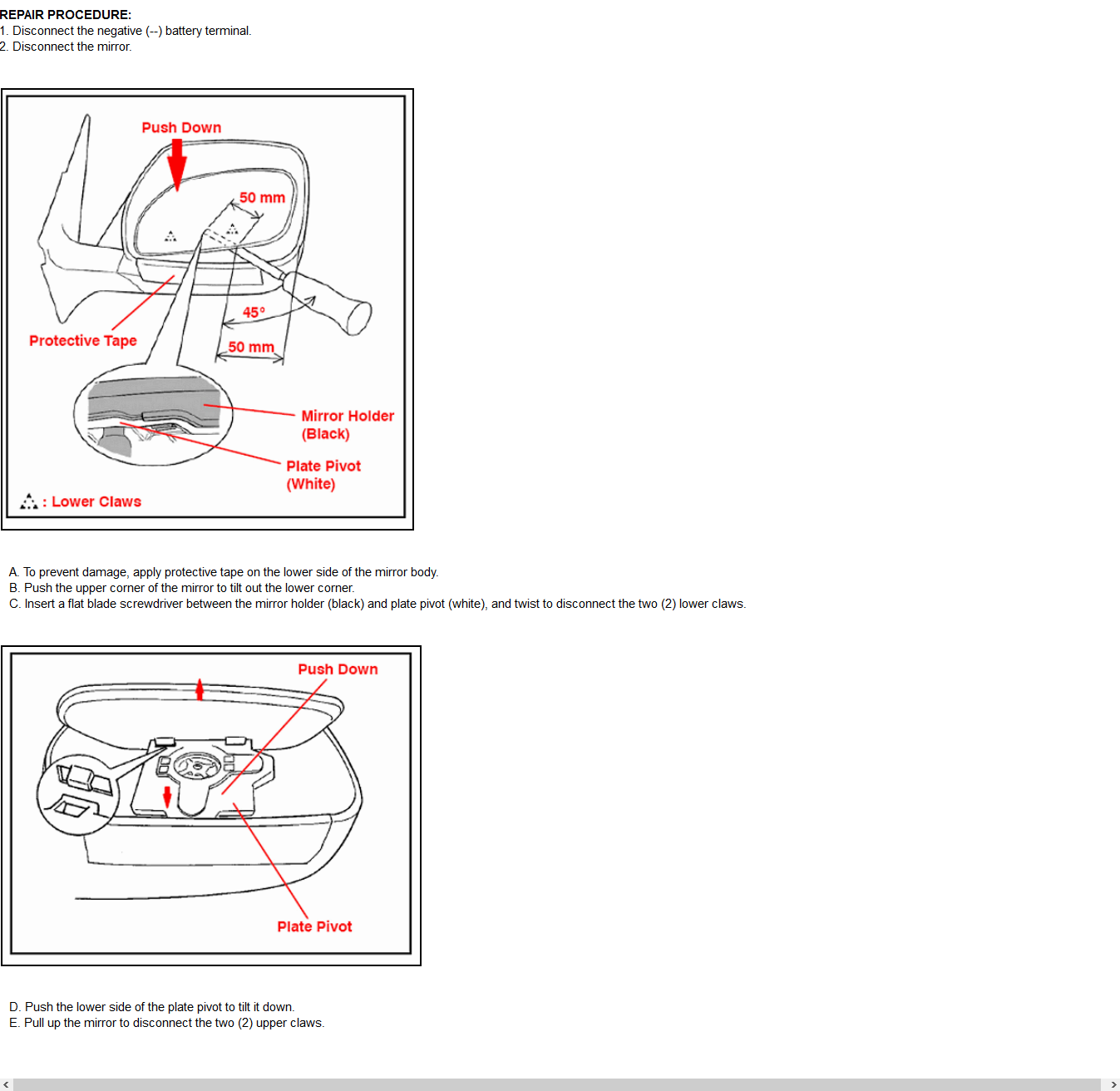 Lexus Rx330 Mirror Diagram Basic Guide Wiring How Do I Replace Just The Glass On Passenger Side 2004 Rh Justanswer Com 2005