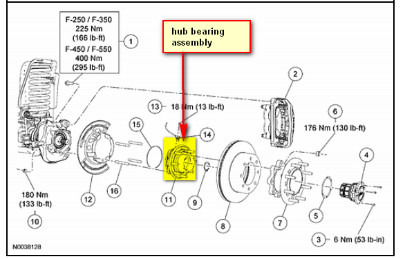 31 Ford F350 4x4 Front Hub Assembly Diagram