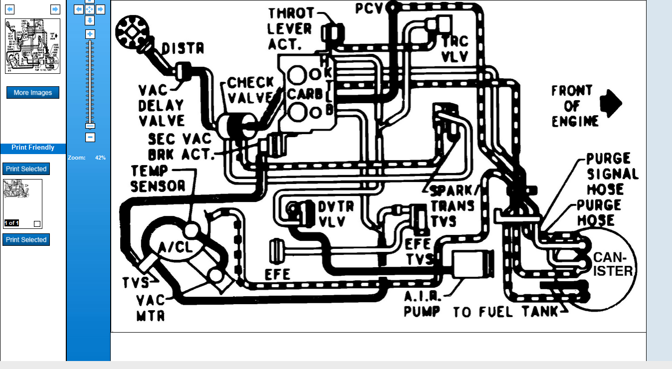 I Need Vacuum Line Diagram For A P30 Van With A 350 Engine